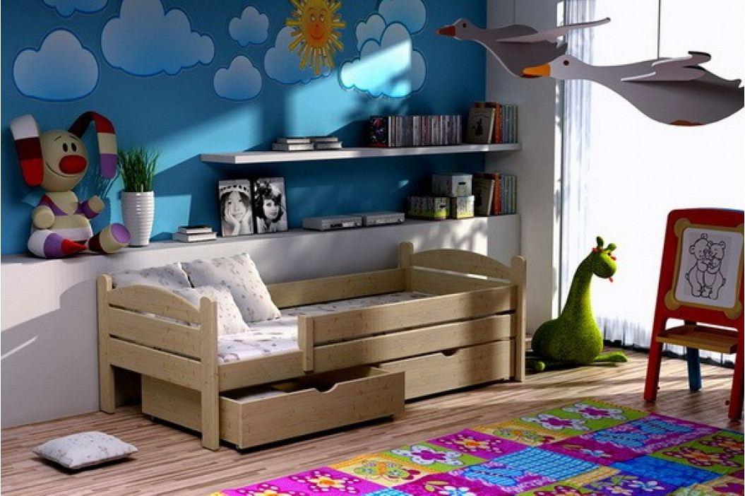 Dřevěná dětská postel - VO obrázek inspirace