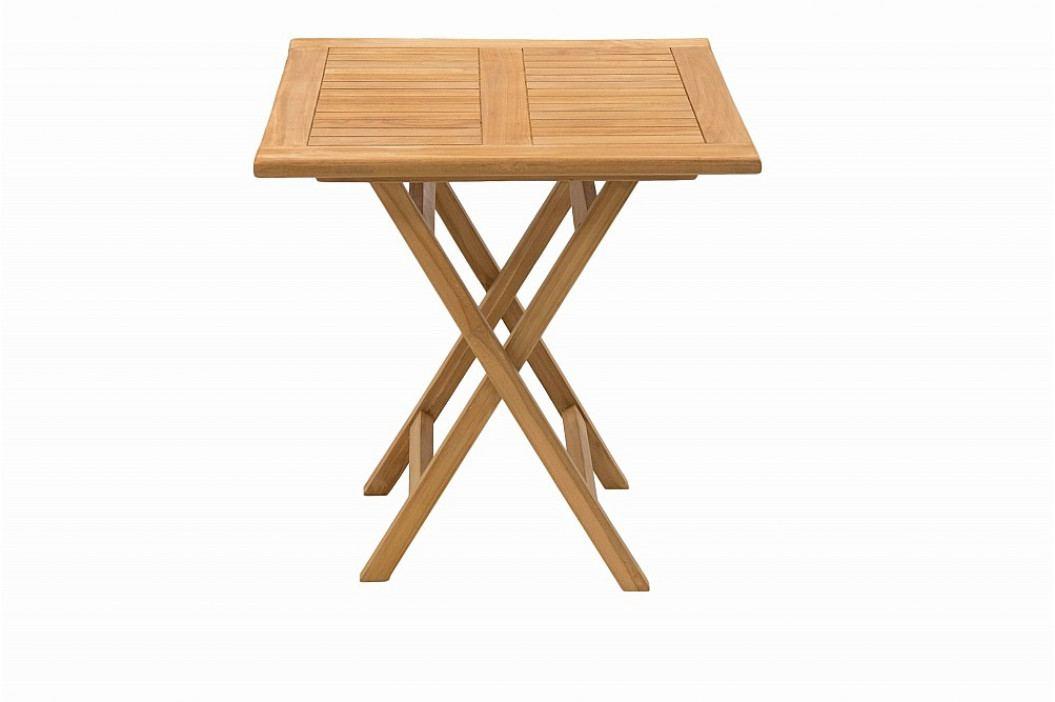Zahradní skládací stůl ILLA 70x70 cm (teak)