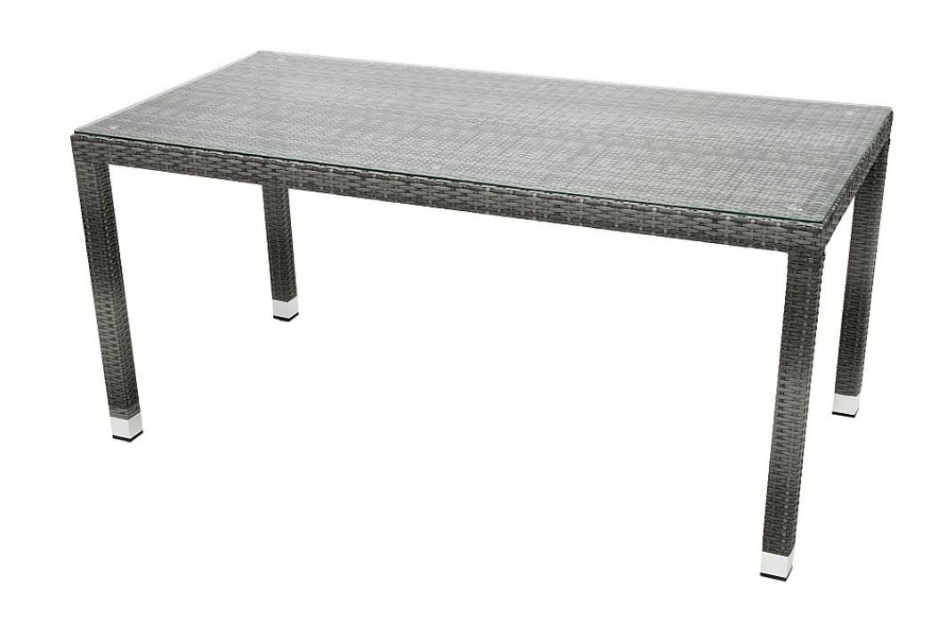 Zahradní ratanový stůl NAPOLI 160x80 cm (šedá)