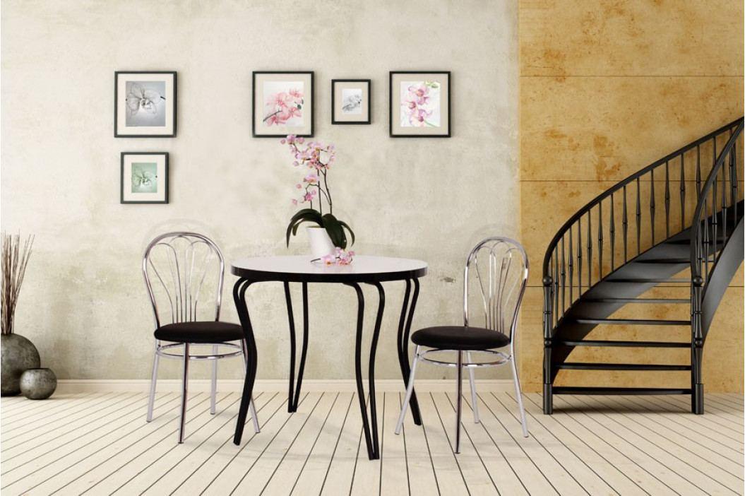Jídelní stůl OLEG, chrom. nohy, 80 kruh
