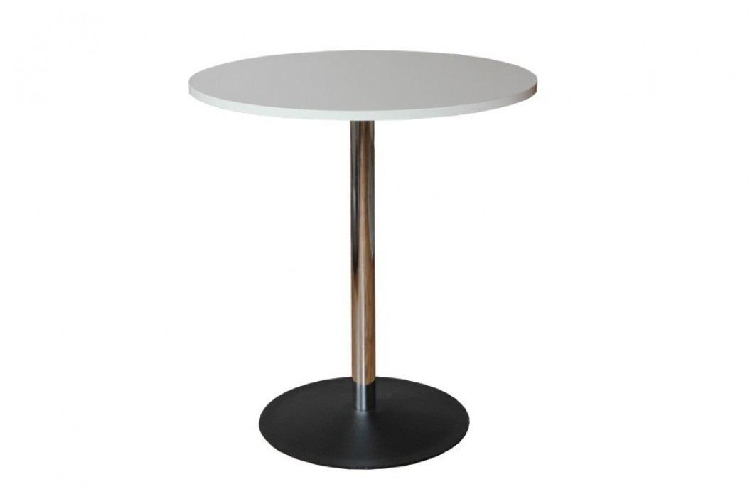 Jídelní stůl kulatý, chromované nohy obrázek inspirace