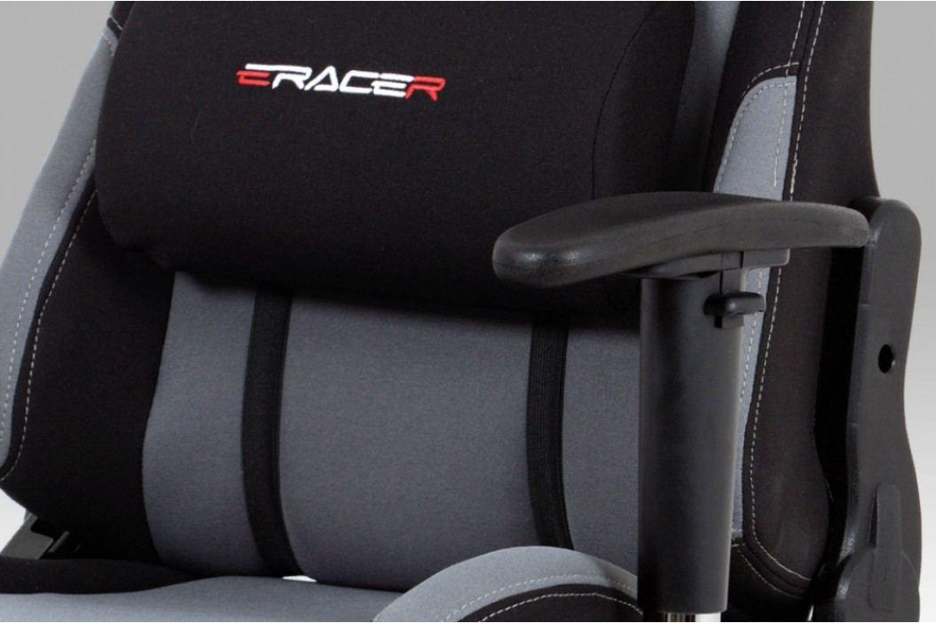 Herní židle na kolečkách ERACER F01 – šedá/černá obrázek inspirace