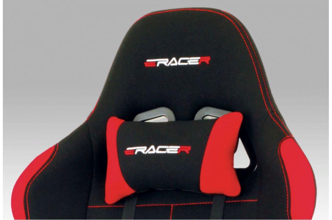 Herní židle na kolečkách ERACER F02 – černá/červená obrázek inspirace