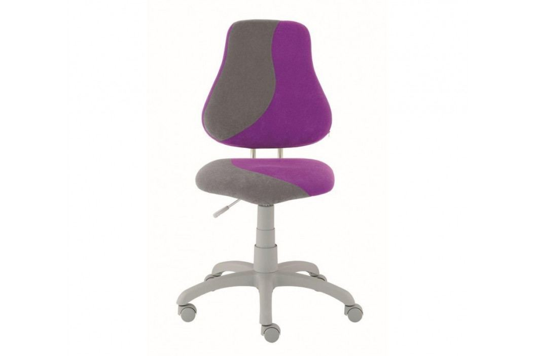 Dětská rostoucí židle na kolečkách Alba FUXO S-LINE – fialová/šedá