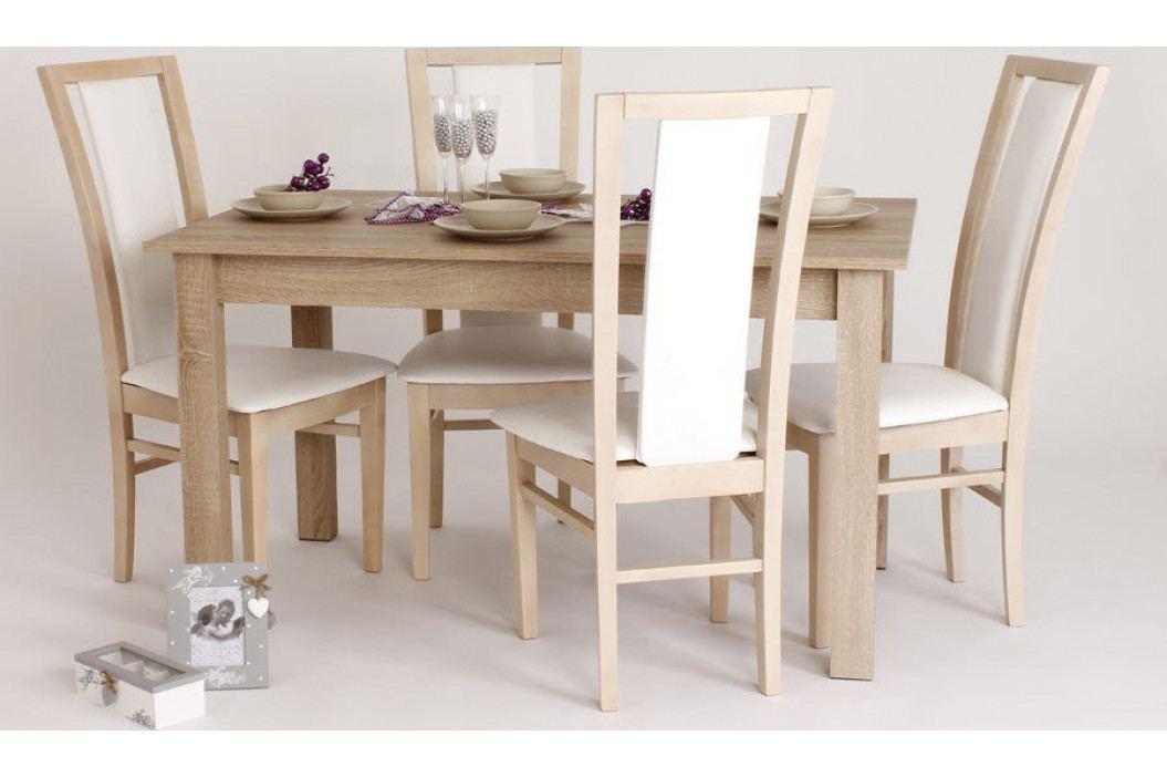 Jídelní set Bradop 1 + 4 – stůl Dušan a židle Nina, buk
