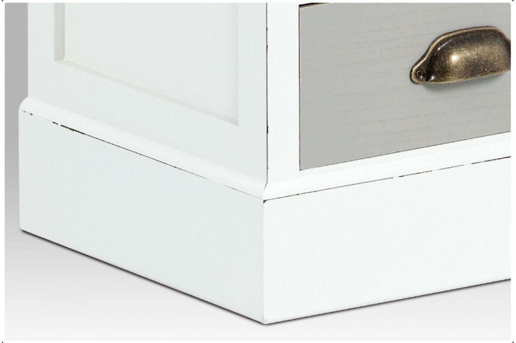 Komoda s dvanácti zásuvkami – masivní dřevo, kovové úchytky