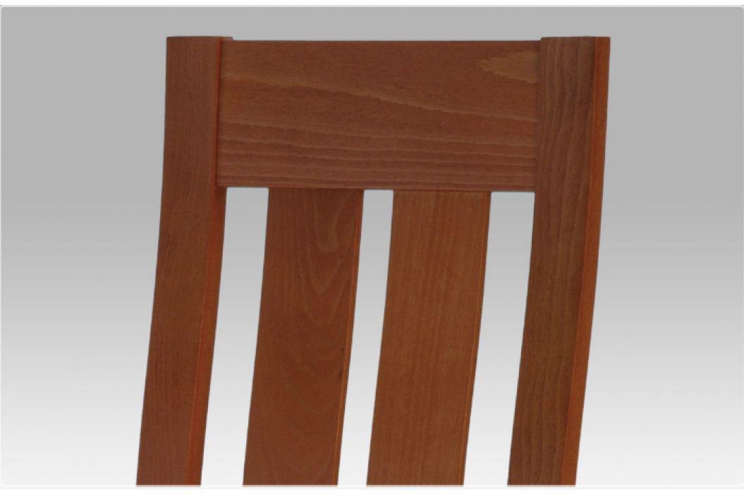 Jídelní dřevěná židle DADO – masiv buk, třešeň, béžový potah