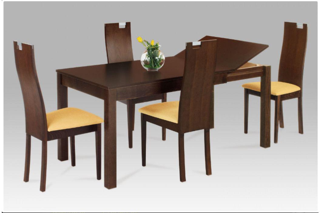 Jídelní rozkládací stůl BLOCCO – masiv ořech, 120+44×80 cm obrázek inspirace
