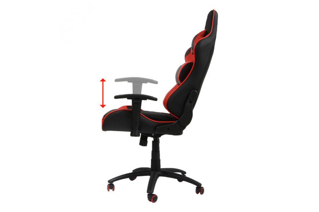 Herní křeslo SPIDER – umělá kůže, černá/červená, nosnost 150 kg