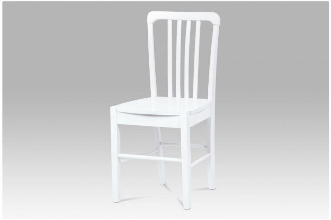 Jídelní celodřevěná židle LEGNO – bílá obrázek inspirace