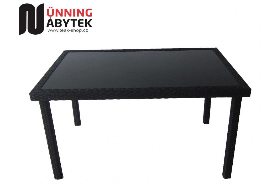 Umělý ratan Stůl Horizon černý 180 - SLEVA