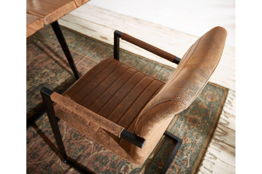 Jídelní židle Ernest Vintage Braun/Černá