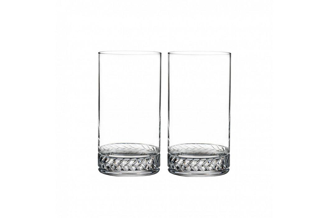 Set vysokých křišťálových sklenic