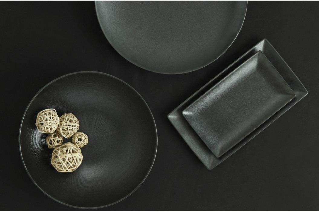 Podnos kulatý 40 cm černý - edice Caviar - Maxwell & Williams