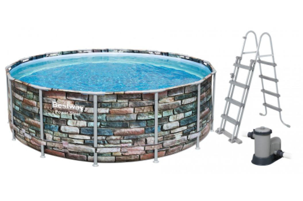Bazén Bestway Power Steel Stone 5,49 x 1,32 m 56886
