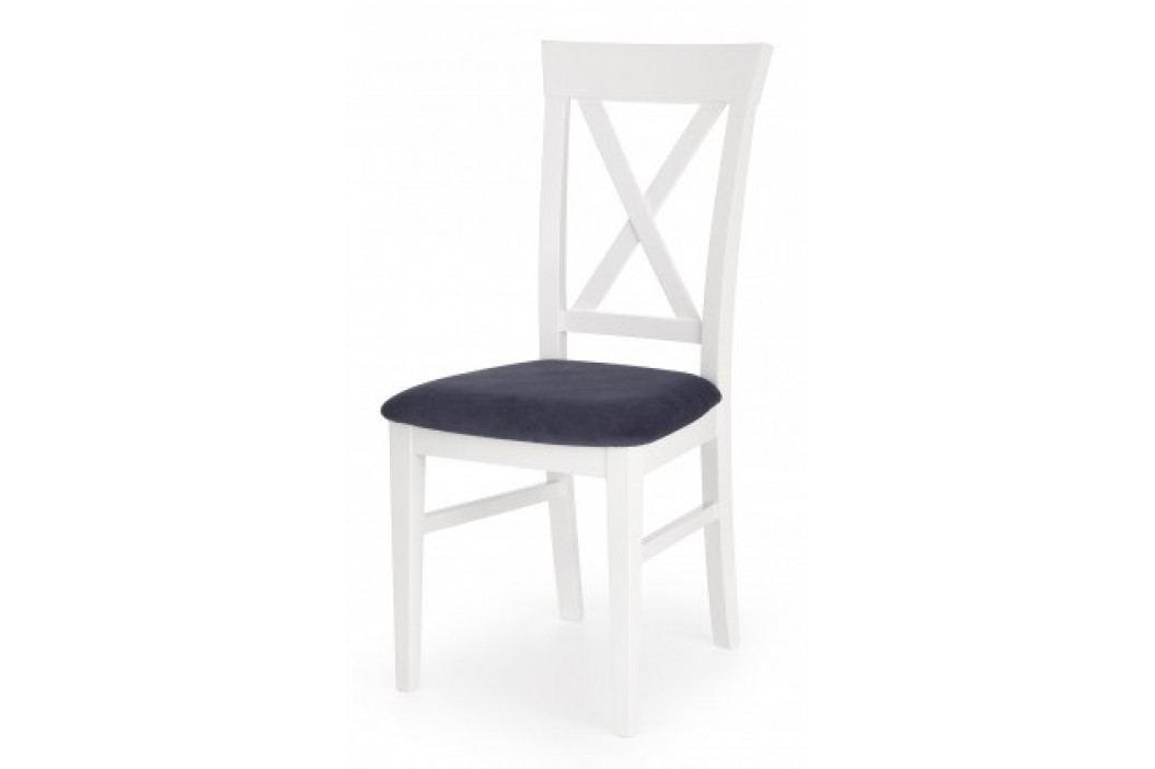 Bergamo - Jídelní židle (masivní buk bílá, látka)