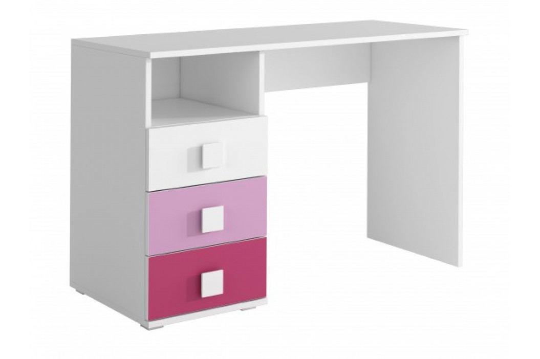 FOX 09 - Pracovní stůl (růžová)