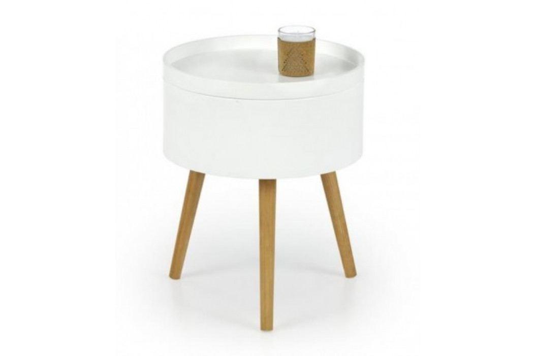 Konferenční stolek Supra (bílá, dub sonoma) obrázek inspirace