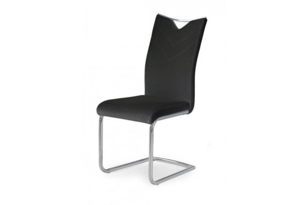 K224 - Jídelní židle (černá, stříbrná)