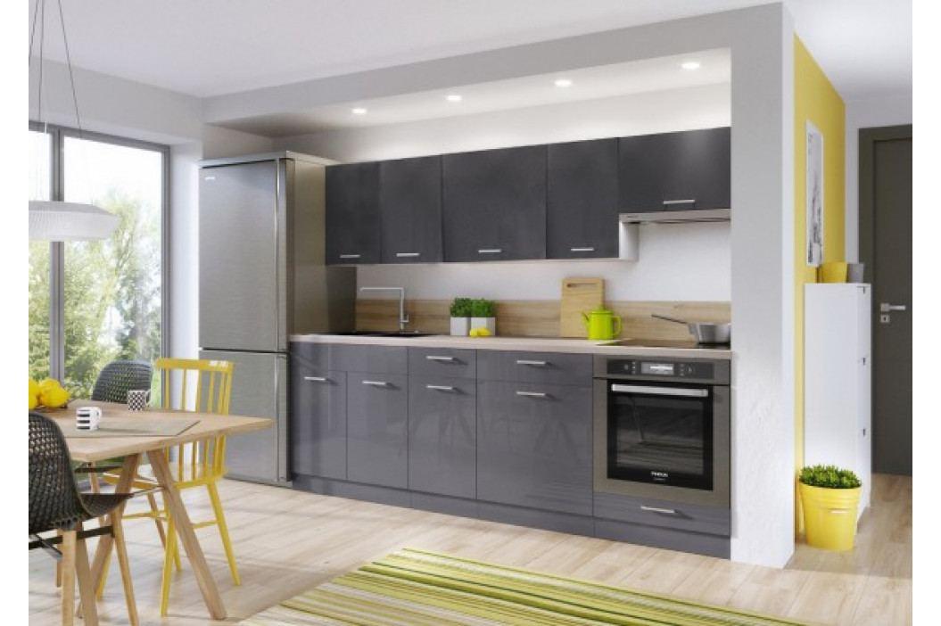 Kuchyně Modern Lux - 240 cm (šedá vysoký lesk) obrázek inspirace
