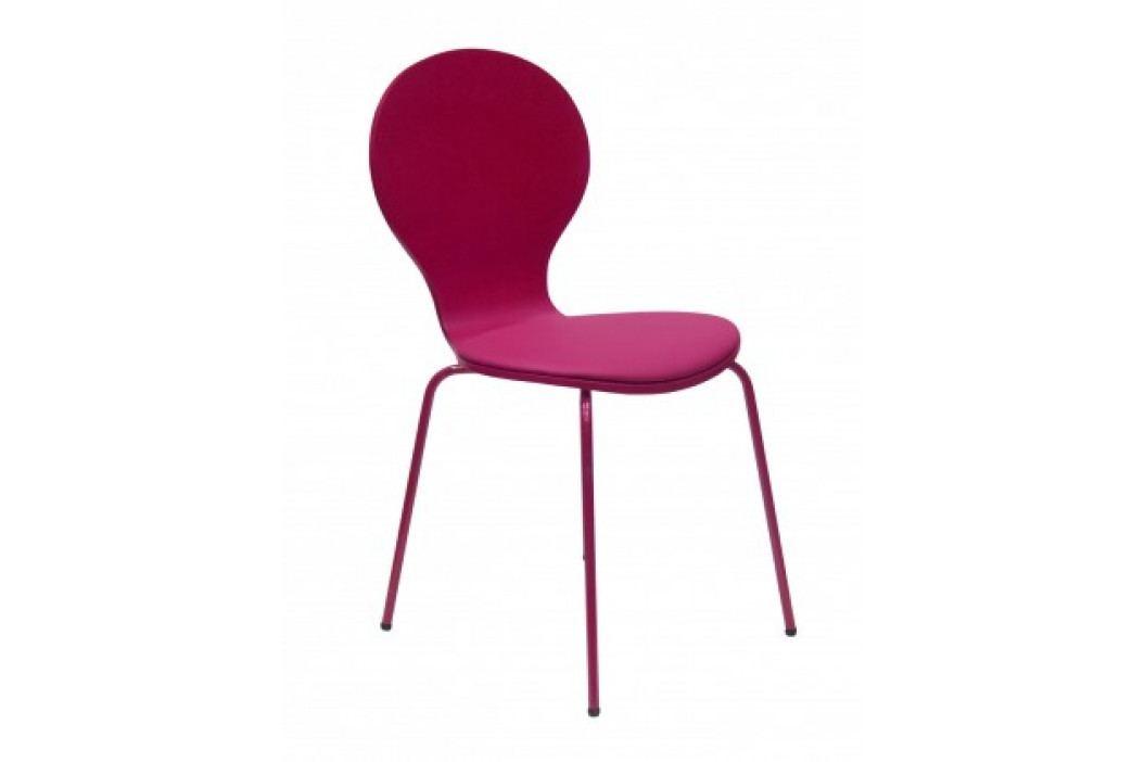 Flower - Jídelní židle, sedák (fuchsiová, eko kůže) obrázek inspirace