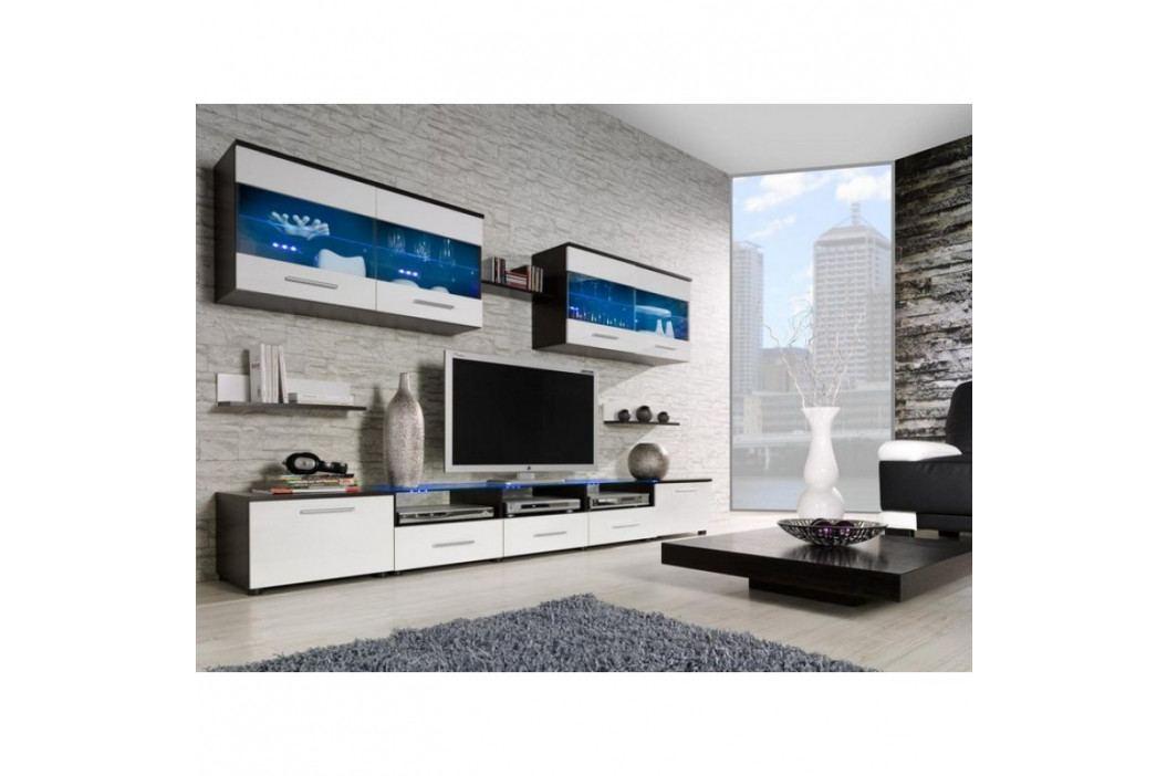 dodání 30 dní - Elegantní obývací stěna CAMA 1D Wenge / Bílý lesk obrázek inspirace