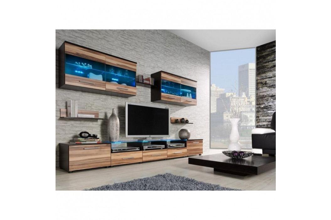 dodání 30 dní - Moderní obývací stěna CAMA 1E Wenge / Ořech baltimore