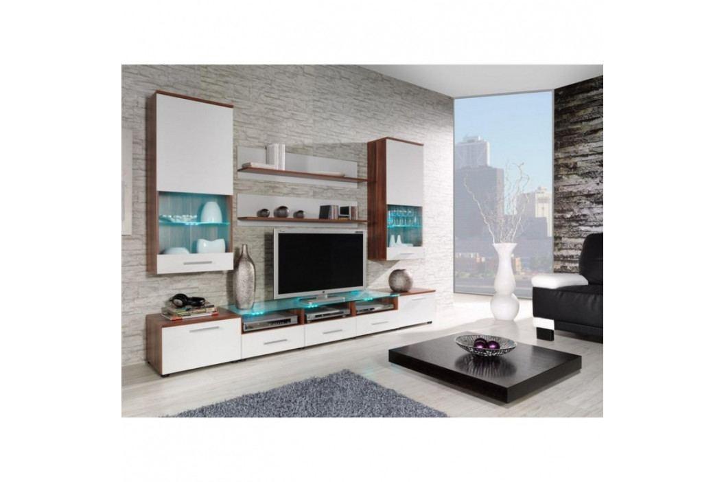 dodání 30 dní - Moderní obývací stěna CAMA 2B Švestka / Bílý lesk