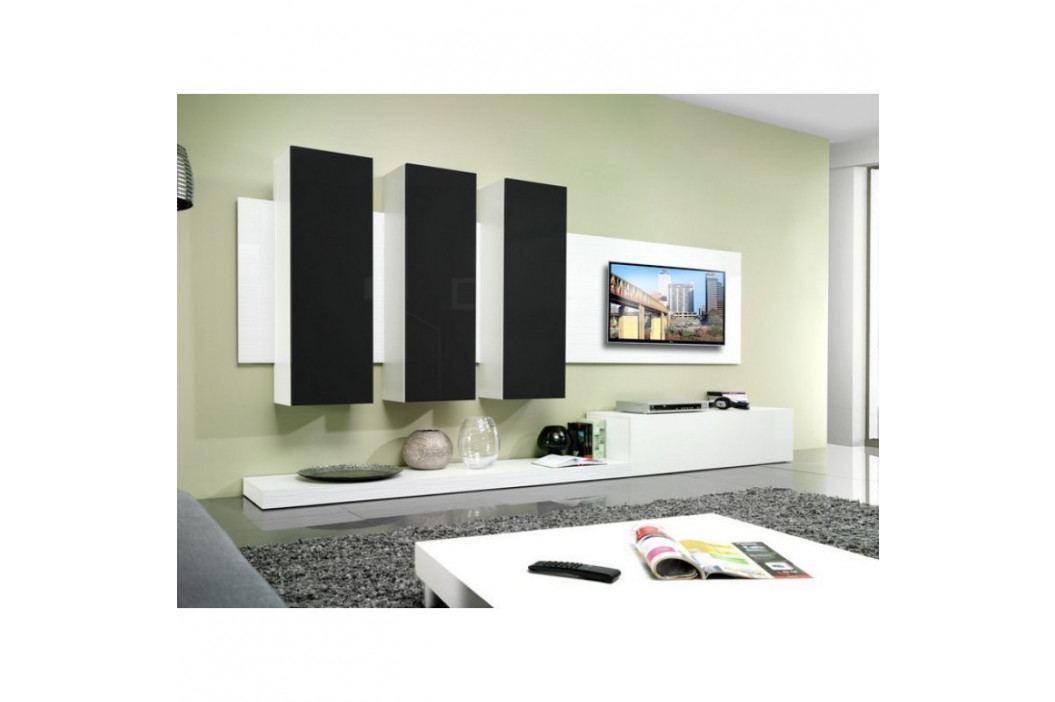 dodání 30 dní - Elegantní obývací stěna LIFE B Bílý / Černý lesk obrázek inspirace