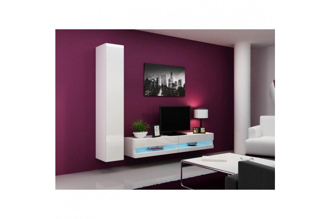 dodání 30 dní - Levná obývací stěna VIGO NEW 9 Bílý / bílý lesk obrázek inspirace