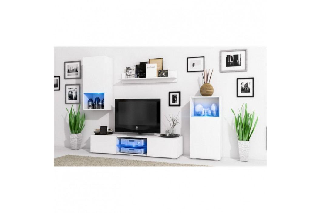 dodání 30 dní - Moderni  obývací stěna LOFT Bílý / Bílý lesk