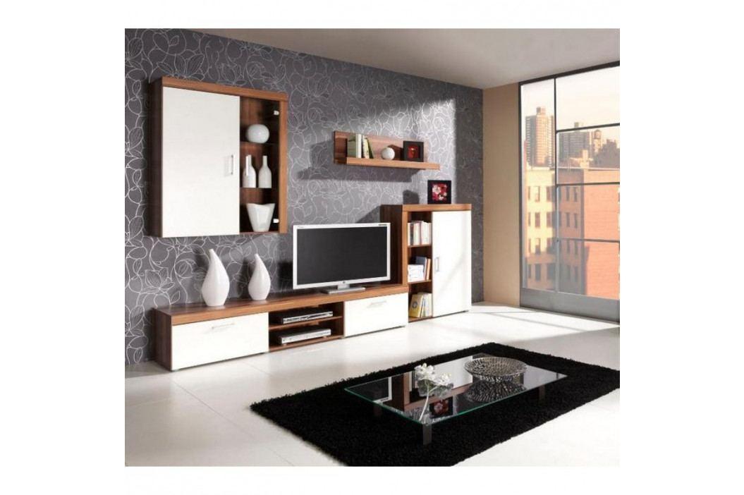 dodání 30 dní - Moderní obývací stěna SAMBA sestava 1  švestka / krémový