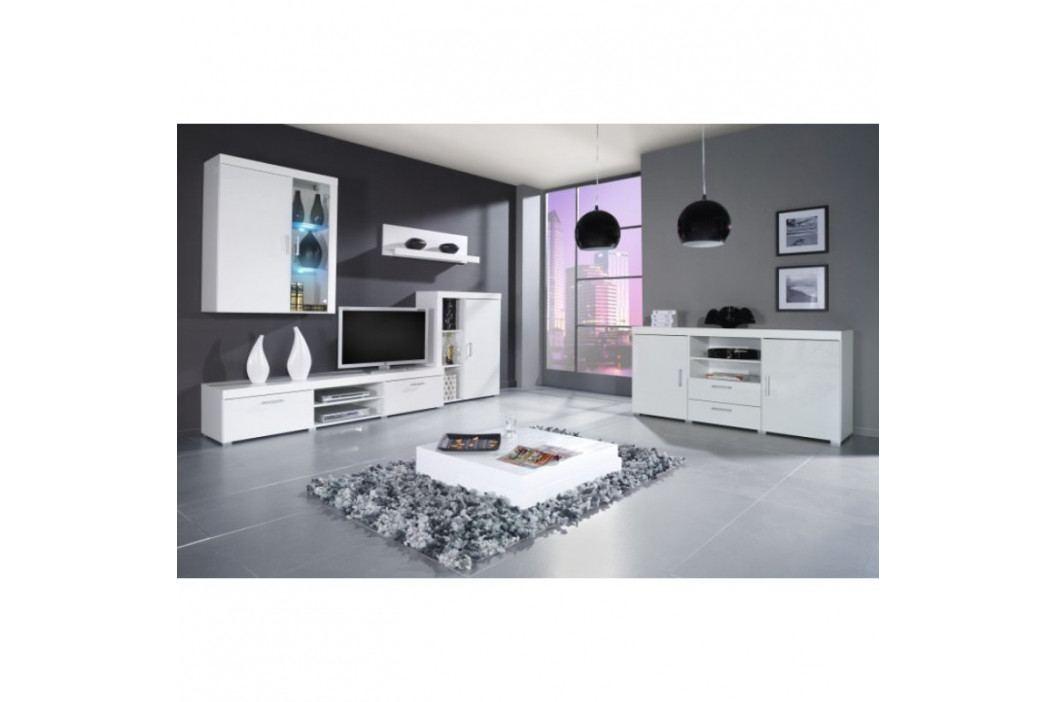 dodání 30 dní - Moderní nábytek SAMBA II sestava C bílý lesk obrázek inspirace