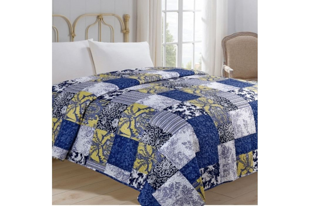 Jahu přehoz na postel 220x240 cm Modrotisk