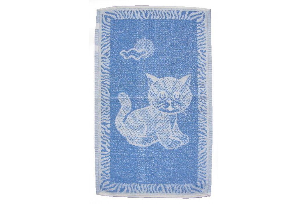 Dadka dětský froté ručník Kotě světle modré 30x50 cm