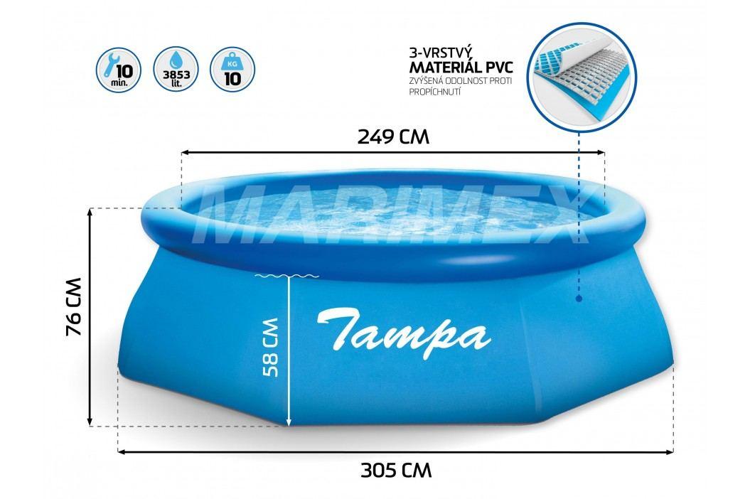 Marimex | Bazén Tampa 3,05x0,76 m - kompletní rodinný set | 19900029
