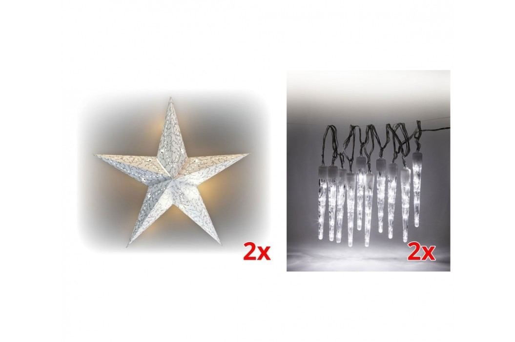 Marimex | Sada LED osvětlení (2x Svítící hvězda + 2x Rampouchy LED 10 ks) | 19900056