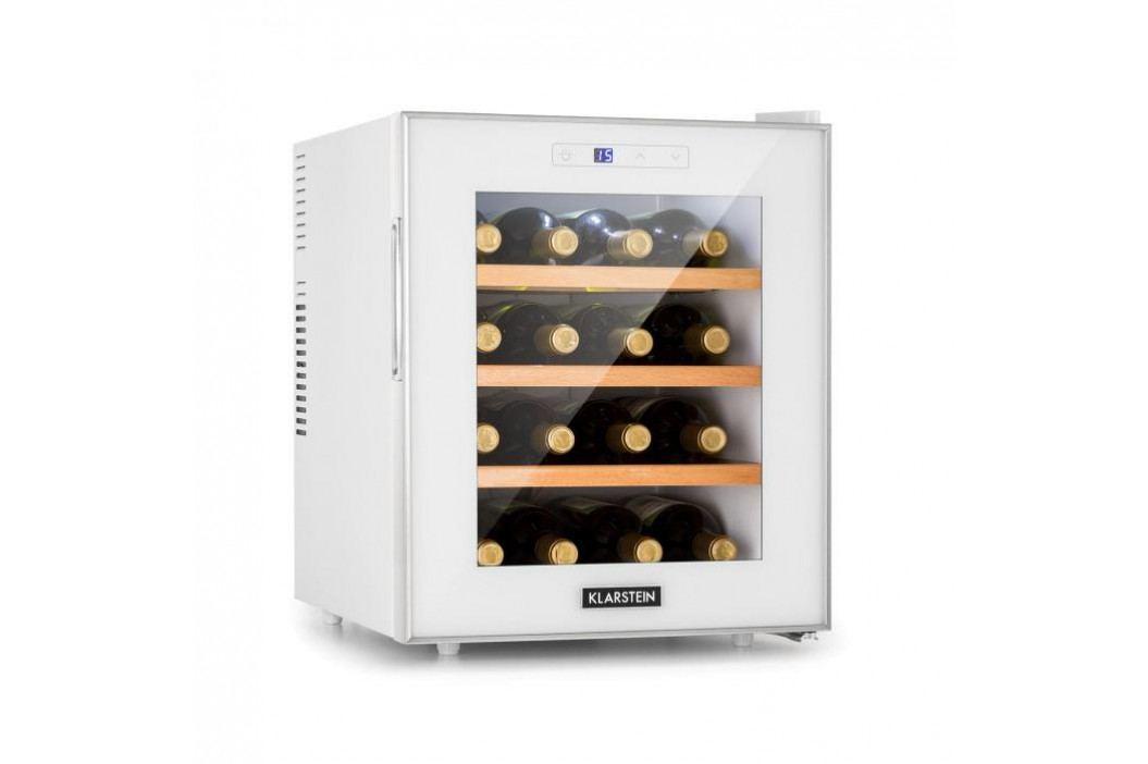 Klarstein Reserva 16 Blanco, vinotéka, 16 lahví / 48 l, LED displej, bílá
