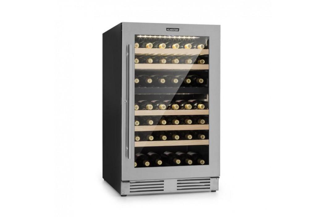 Klarstein Vinovilla Duo79, dvouzónová vinotéka, 189 l, 79 lahví, 3vrstvé skleněné dveře