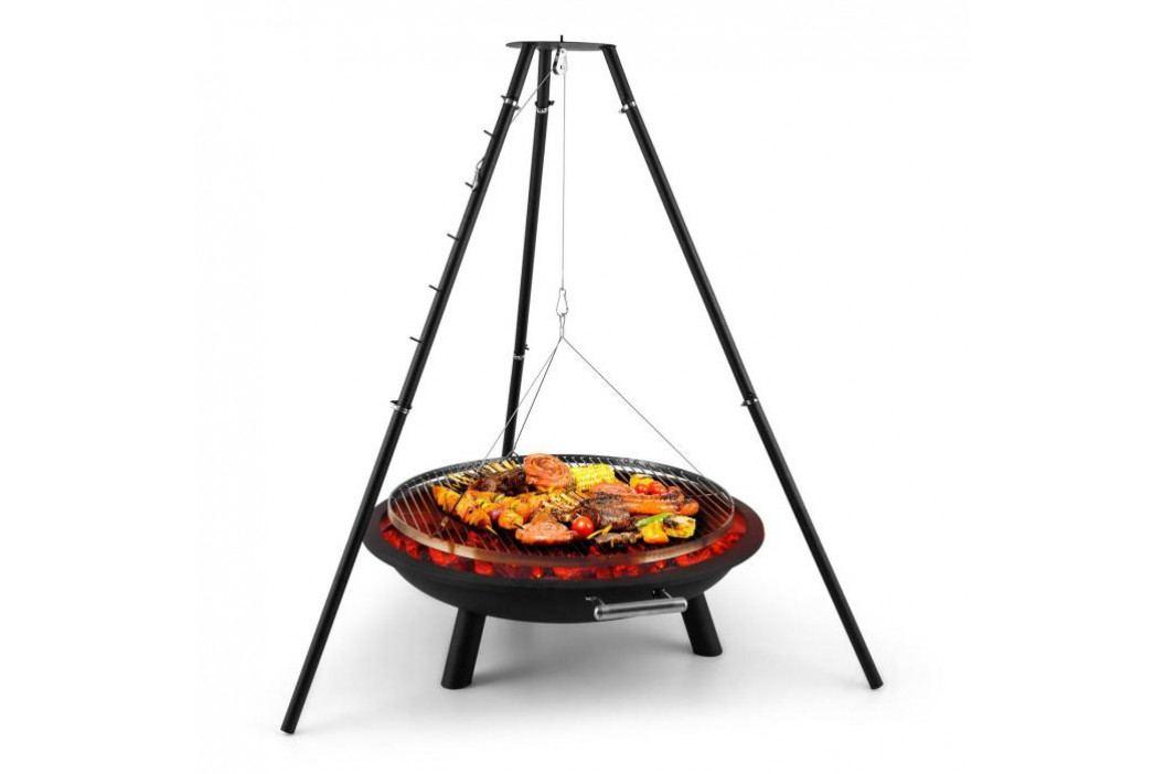 Blumfeldt Arco Trino, otočný gril, ohniště, BBQ, trojnožka, nerezová ocel