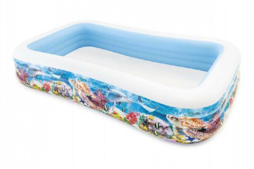 Teddies 58068 Bazén obdélník mořský svět nafukovací 305x183x56cm