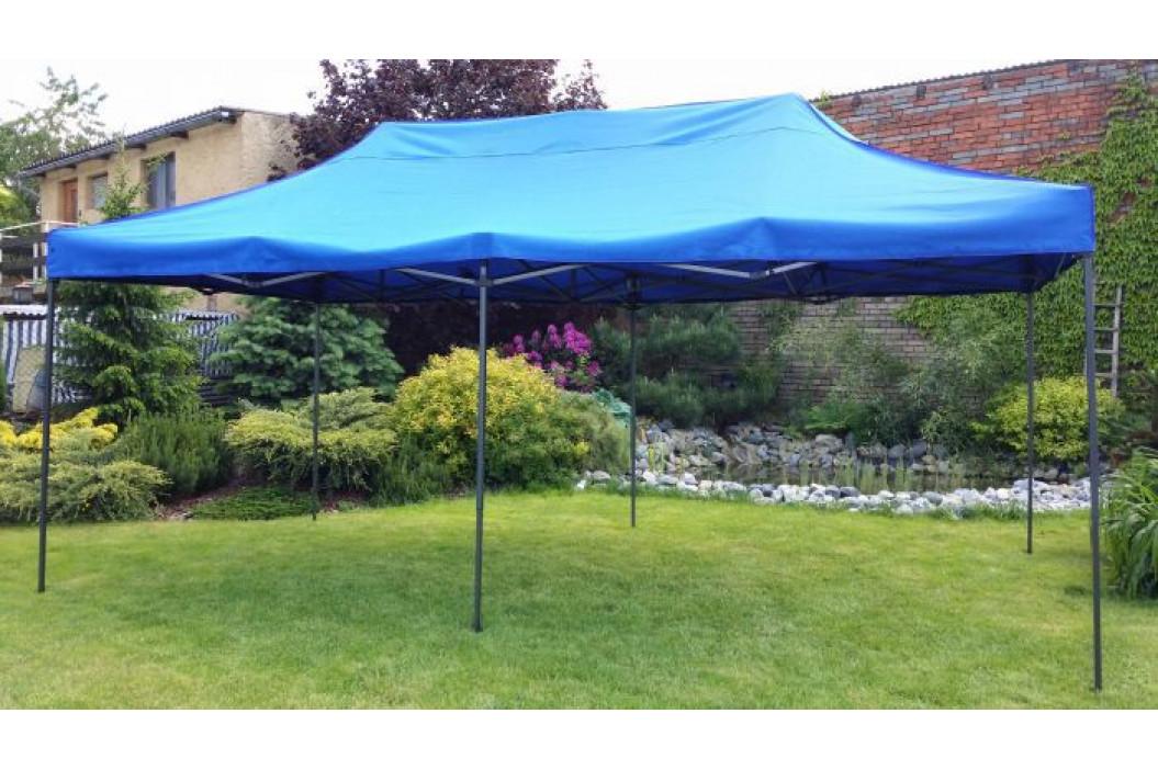 Tradgard DELUXE 41514 Zahradní párty stan  nůžkový + boční stěna - 3 x 6 m modrá