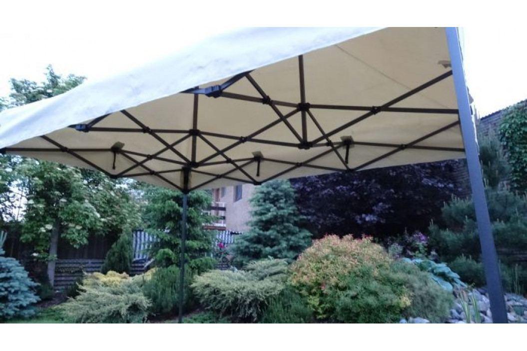 Tradgard DELUXE 41512 Zahradní párty stan  nůžkový + boční stěna - 3 x 6 m smetanová obrázek inspirace
