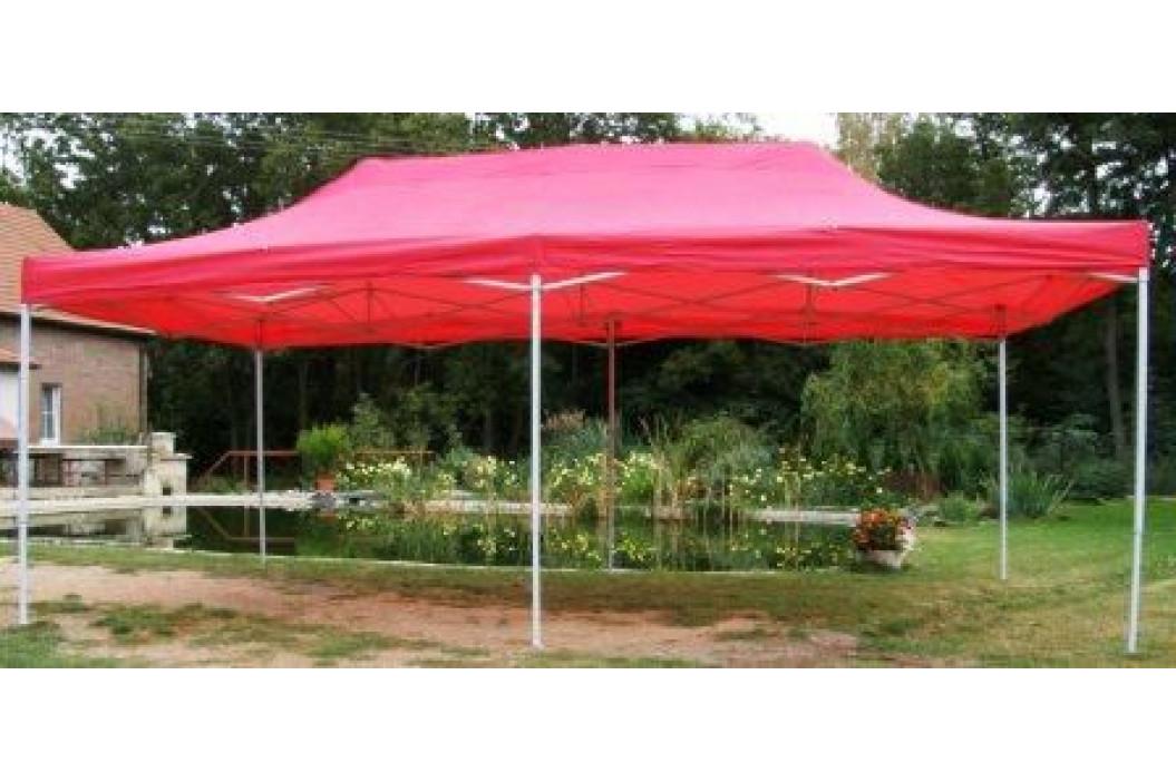 Tradgard 41507 Zahradní párty stan DELUXE nůžkový - 3 x 6 m červená