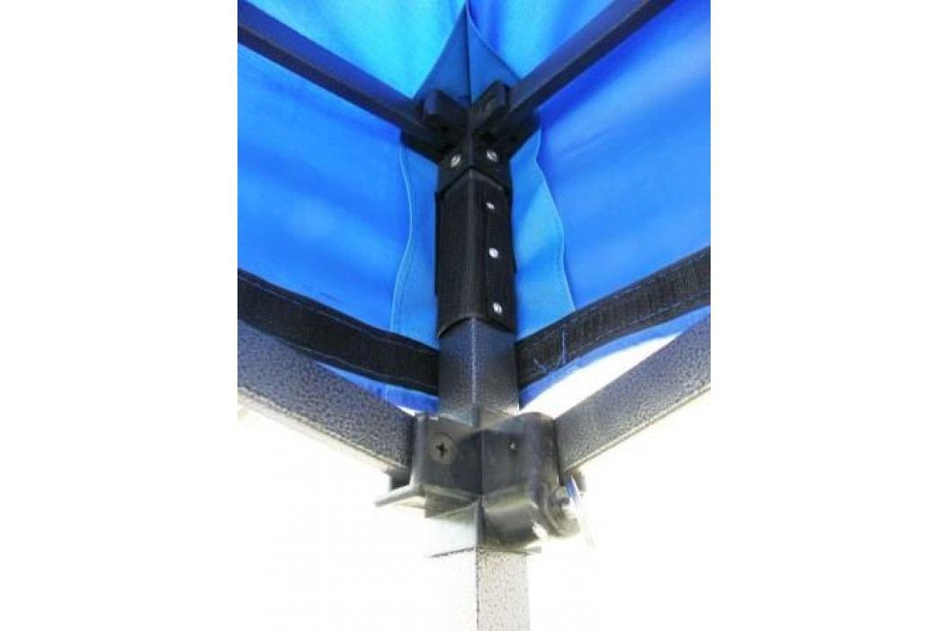 Zahradní párty stan DELUXE nůžkový + boční stěna - 3 x 4,5 m modrá