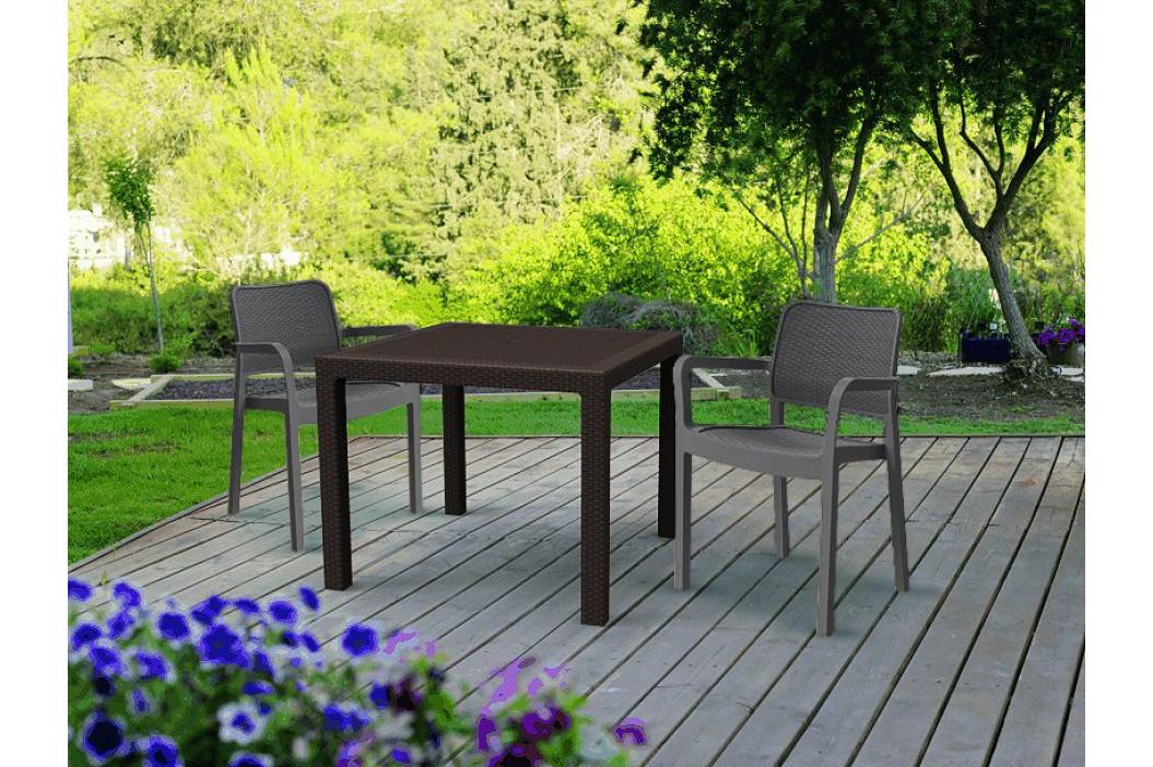 Allibert 41472 Zahradní plastové křesl SAMANNA - cappuchino