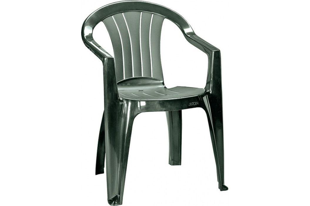 CURVER 41471 Zahradní plastová židle SICILIA - tmavě zelená