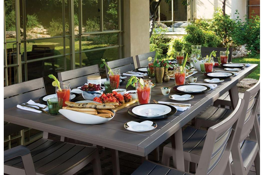 Zahradní rozkládací stůl HARMONY grafit+šedohnědý