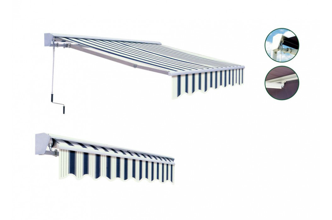 Tradgard 41368 Markýza 3x2 m s krytem - béžový pruh - vzor 318