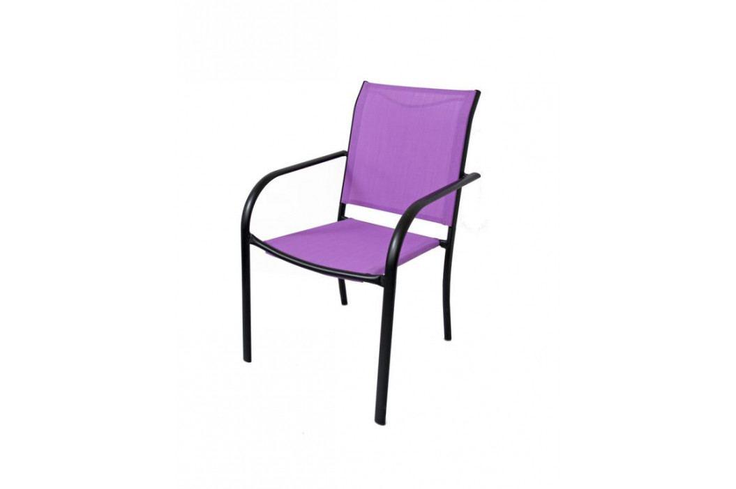 Tradgard 41365 Zahradní kovové křeslo fialové